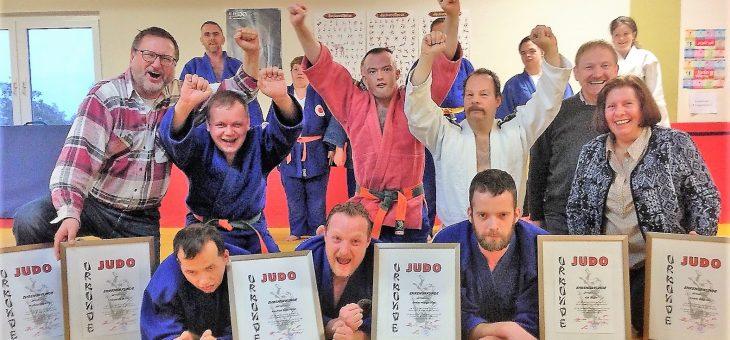 Begeisterung im Judo für Gehandicapte